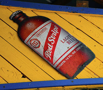 Photograph - Red Stripe Beer Sign by David Lee Thompson