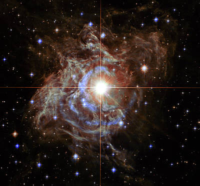 Hubble Space Telescope Photograph - Rs Puppis Super Star by Mark Kiver