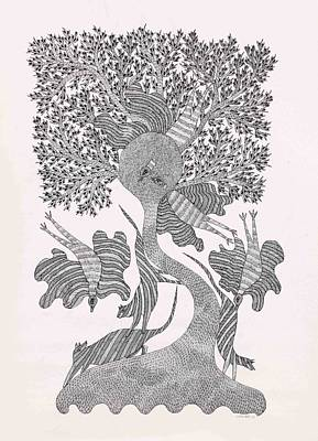Gond Drawing - Rsu 05 by Ramsingh Urveti