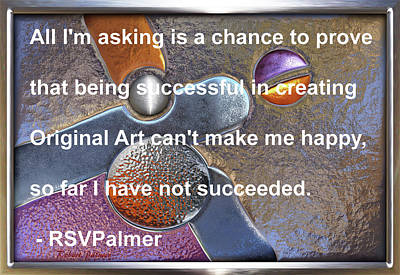 Digital Art -  Overlapping Dominance Swap 1 - With Quote by RSVPalmer