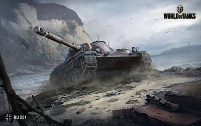 251 Digital Art - Ru 251 World Of Tanks by F S