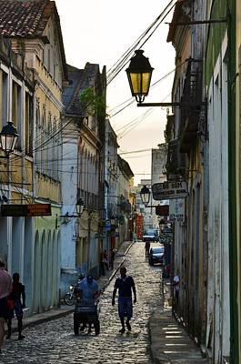 Photograph - Alley At Dusk - Bahia, Brazil by Carlos Alkmin