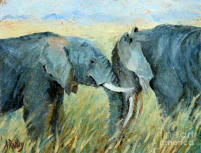 Painting - Two Together by Ann Radley
