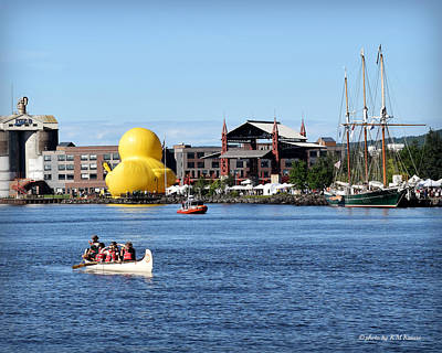 Photograph - Rubber Duck And Tall Ship-duluth by Kathy M Krause