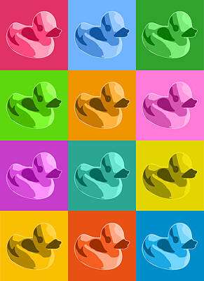 Duck Wall Art - Digital Art - Rubber Ducks by Michael Tompsett