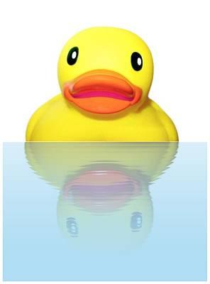 Bathe Digital Art - Rubber Ducky by Karen Wallace