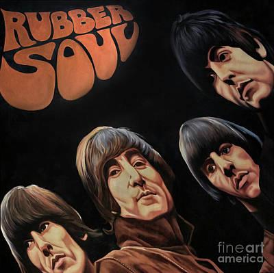 Rubber Soul - The Beatles Art Print