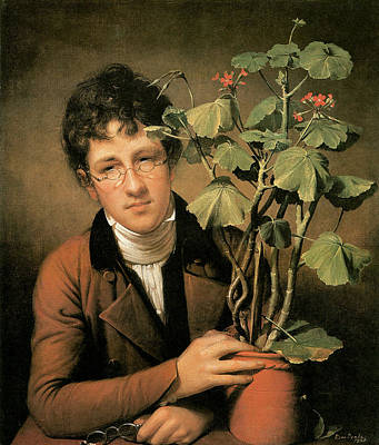 Rubens Peale With A Geranium Art Print by Rembrandt Peale
