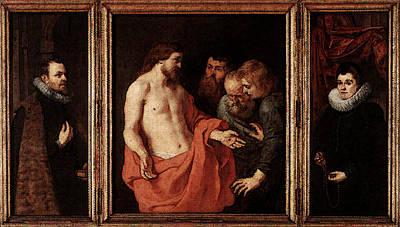 Incredulity Digital Art - Rubens The Incredulity Of St Thomas by Peter Paul Rubens