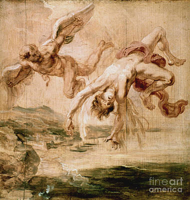 Rubens:fall Of Icarus 1637 Art Print by Granger