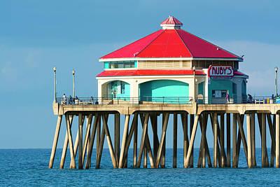 Photograph - Rubies On Huntington Beach Pier by Joe Belanger