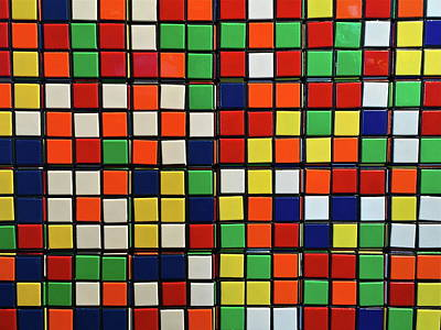 Photograph - Rubik's Cube by Denise Mazzocco