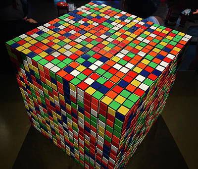Photograph - Rubik's Cubes by Denise Mazzocco