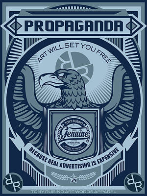 Painting - Rubino Blue Propaganda by Tony Rubino