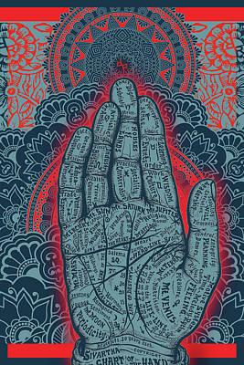 Painting - Rubino Blue Zen Namaste Hand by Tony Rubino