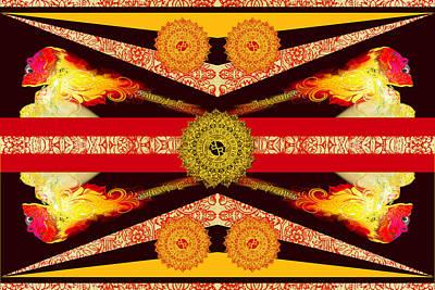 Mixed Media - Rubino Flag by Tony Rubino