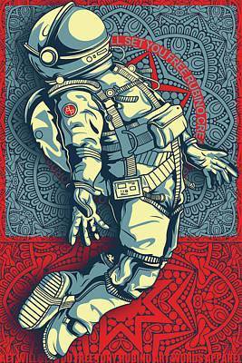 Mixed Media - Rubino Float Astronaut by Tony Rubino
