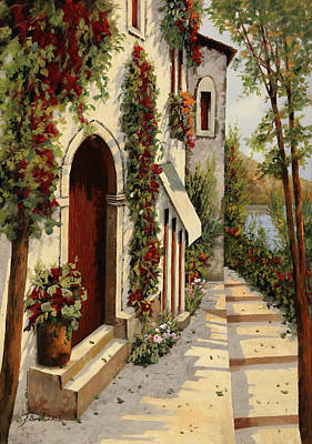 Red Door Painting - Rubino by Guido Borelli