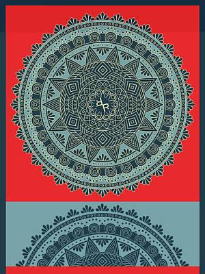 Mixed Media - Rubino Indian Mandala by Tony Rubino