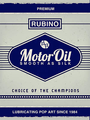 Painting - Rubino Motor Oil by Tony Rubino