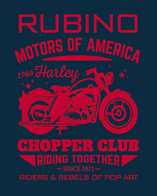 Painting - Rubino Motorcycle Club by Tony Rubino