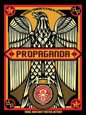 Painting - Rubino Red Propaganda by Tony Rubino