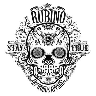 Painting - Rubino Rise Up Skull 2 by Tony Rubino