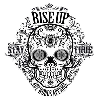 Painting - Rubino Rise Up Skull by Tony Rubino