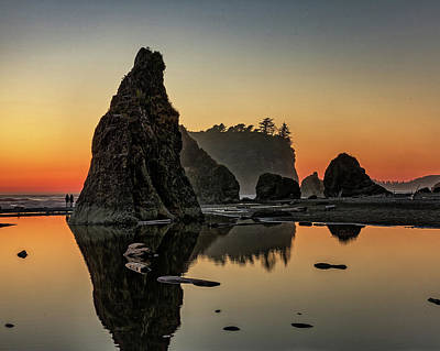 Photograph - Ruby Beach At Sunset by Kyle Lee