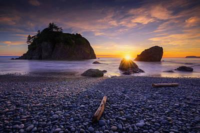 Print featuring the photograph Ruby Beach Dreaming by Dan Mihai