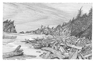 Drawing - Ruby Beach by Jack Pumphrey