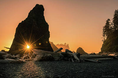Photograph - Ruby Beach - Starburst Arch by Expressive Landscapes Fine Art Photography by Thom