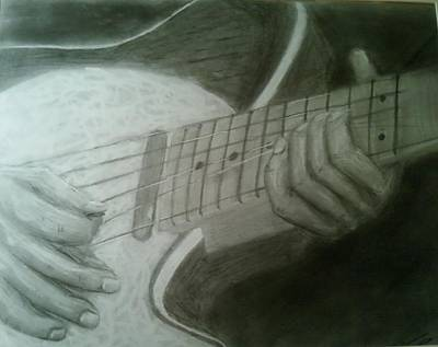 Telecaster Drawing - Ruby by Bruce Byrnes
