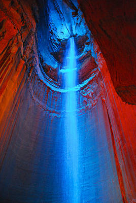 Ruby Falls Waterfall 3 Art Print by Mark Dodd