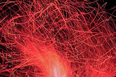 Photograph - Ruby Flame 3 by Angela Murdock