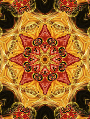 Digital Art - Ruby Fractal by Ted Raynor