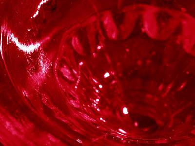 Ruby Glass Beauty Art Print