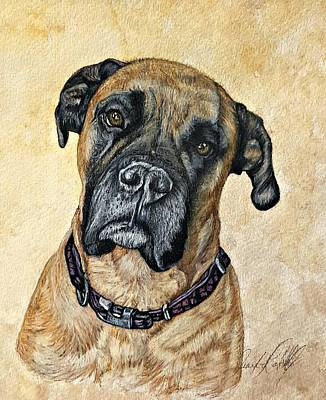 Custom Pet Portrait Drawing - Ruby by Jennifer Campbell Brewer