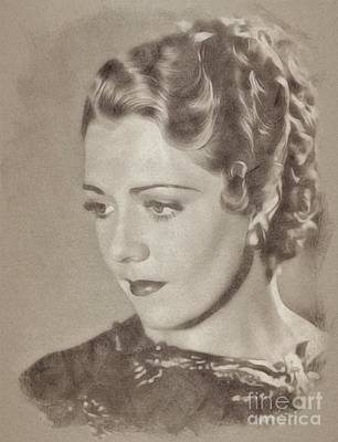 Fantasy Drawings - Ruby Keeler, Actress by John Springfield