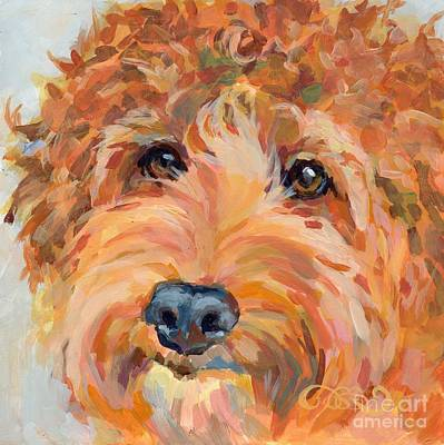 Mixed Painting - Ruby by Kimberly Santini