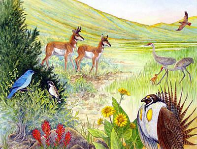 Painting - Ruby Lake Uplands by Shari Erickson