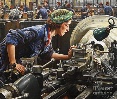 Ruby Loftus Screwing A Breech Ring, A World War II Print by Celestial Images