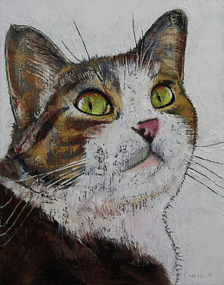 Feline Painting - Ruby by Michael Creese