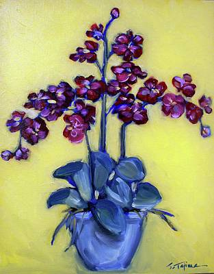 Painting - Ruby Red Orchids by Sheila Tajima