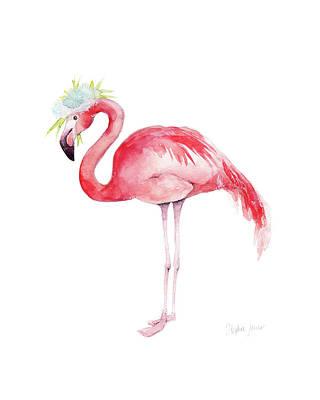 Beach Bird Painting - Ruby Rose by Stephie Jones