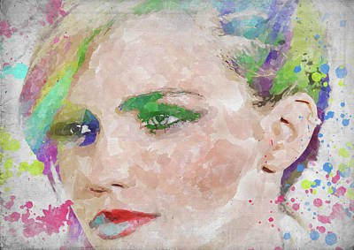 Photograph - Ruby Rose Watercolor by Ricky Barnard
