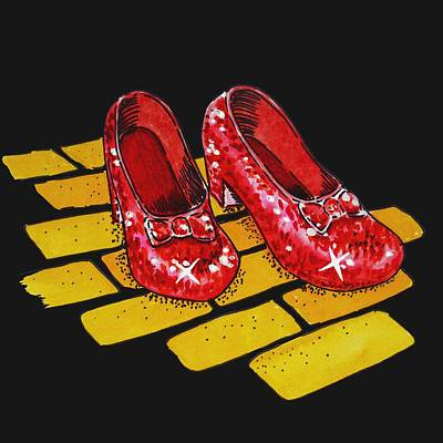 Painting - Ruby Slippers From Wizard Of Oz by Irina Sztukowski
