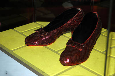 North America Photograph - Ruby Slippers On The Yellow Brick Road by LeeAnn McLaneGoetz McLaneGoetzStudioLLCcom