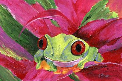 Ruby The Red Eyed Tree Frog Art Print by Jamie Frier