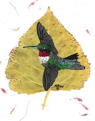 Painting - Ruby Throat-ed Hummingbird by Ralph Root